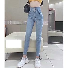 Quần jean nữ Lưng Cao Julido Store, chất jean co dãn 4 chiều ống ôm chân mẫu MH03