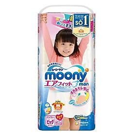 Tã quần Moony XL38 cho bé gái (38 miếng)-0