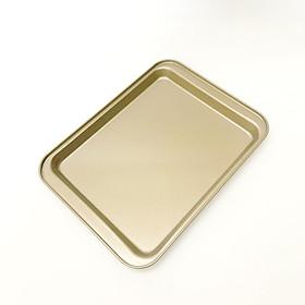 Khay Nướng Bánh Chữ Nhật Chống Dính 24*18*2cm (Mầu Vàng)
