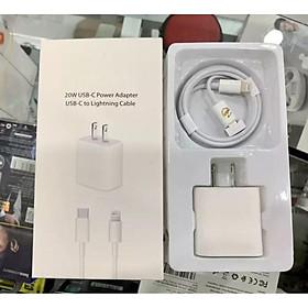Bộ Củ Cáp Sạc Siêu Nhanh 20W - CAP0002W - Hỗ Trợ Cho Các Dòng Iphone, Ipad - USB-C To Lightning - Full Hộp Phụ Kiện - Hàng Nhập Khẩu