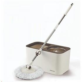 Bộ Lau Nhà Xoay Tay Lock&Lock Dual Bucket Spin Mop  ETM478 ( thùng giặt , cây , 2 bông lau)
