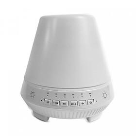 Máy khuếch tán tinh dầu trụ trắng phát nhạc theo yêu cầu thông qua điện thoại hay USB, tai nghe, Bluetooth