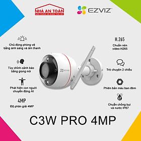 Camera IP Wifi ngoài trời EZVIZ C3W Pro Color Night bản 4MP chính hãng Nhà An Toàn