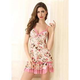 Hình đại diện sản phẩm Váy Ngủ Nữ Thun Lạnh Hình Hoa Hồng