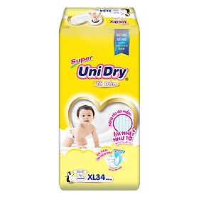 Combo 4 Tã Dán Cho Bé UniDry (G6+) size XL34 (34 miếng)