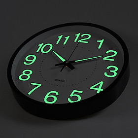 Đồng hồ treo tường cao cấp có dạ quang phát sáng trong đêm