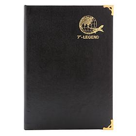 Sổ Ck T-Legend Bìa Da 168 Trang TIE (14.5 x 20.5 cm) - Đen