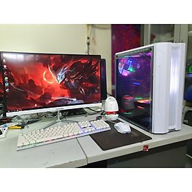 Bộ máy tính màn hình CONG 24 inch linh kiện mới full box dùng văn phòng, học tập, chơi game (Sản phẩm trọn bộ đã cài đặt win, office, quý khách cắm điện là dùng...)