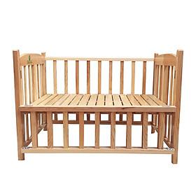 Cũi cho bé - Cũi giường chất gỗ Sồi GoldCat