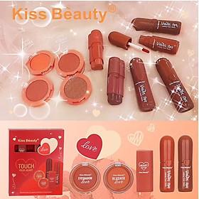 Bộ Trang Điểm Kiss Beauty Đỏ 5 Sản Phẩm Touch Your Heart-5