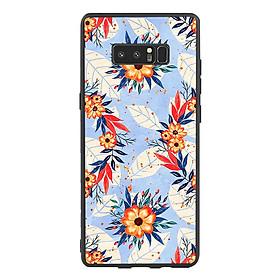 Ốp lưng viền TPU cho điện thoại Samsung Galaxy Note 8 - Flower 16