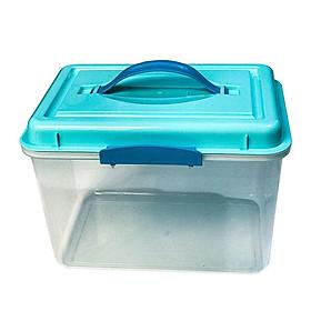 Combo hộp chống ẩm máy ảnh, flycam 6 lít (ẩm kế điện tử, 200g hạt hút ẩm hoặc tùy chọn máy hút ẩm, mút xốp)