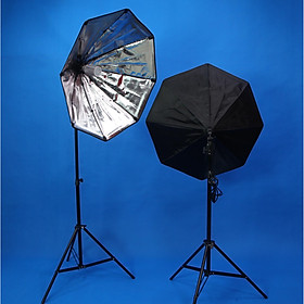 Combo 2 đèn LED360 20w softbox bát giác 75cm