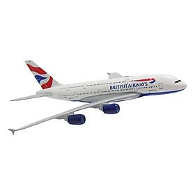 Mô Hình Máy Bay Trưng Bày Airbus A380  British Airways Everfly BA20 (20cm)