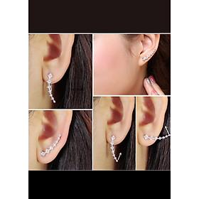 Bông tai nạm đá Kẹp tai nhiều kiểu đeo BH624
