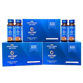 Combo 3 hộp 30 Chai Đông trùng hạ thảo Hector Sâm giúp tăng sức bền, sức khỏe cơ thể (Date mới)