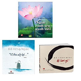 Combo 3 cuốn sách của bác sĩ Đỗ Hồng Ngọc - Bộ 3 cuốn