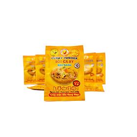 Gia vị thực phẩm bột cari bơ Hậu Sang 5gam- loại 30 gói