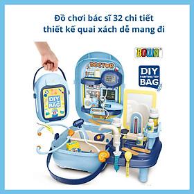 Đồ Chơi Bác Sĩ - Thương Hiệu Bowa 34 Chi Tiết - Có Thẻ Nhựa Cho Bé Tự Trang Trí Ngoài Hộp - Mini Set Doctor Toys