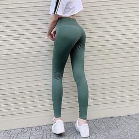 Quần Dài Tập Gym Yoga Aerobic Nữ Legging Lưng Cao Cap Cao Ôm Dáng Tôn Mông Giá Rẻ Đẹp