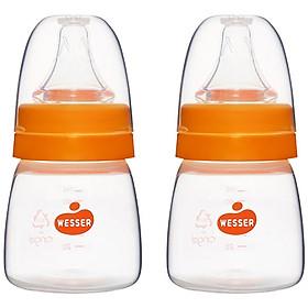 Combo 2 Bình Sữa PP Wesser -  (Giao màu ngẫu nhiên)
