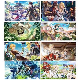 Poster A4 in hình GENSHIN IMPACT game tranh treo tường trang trí đẹp