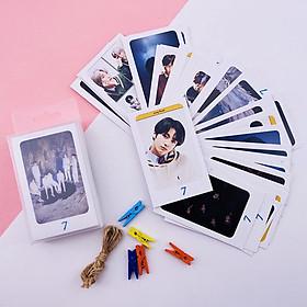 """Bộ Lomo card BTS  """"Map Of The Soul: 7"""" kèm dây và kẹp"""