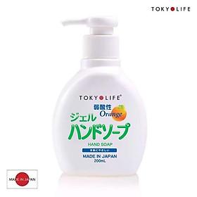 Nước rủa tay lành tính Tokyolife hương cam 200ml xuất xứ Nhật Bản