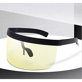 Cycling Sunglasses Oversized Visor Wrap Shield Large Mirror Sun Glasses ant-UV 400 Half Face Shield Guard  Lenses