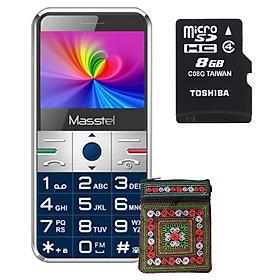 Combo: Điện thoại người già Masstel Fami S + Thẻ nhớ Toshiba 8GB Tặng túi đựng điện thoại thổ cẩm