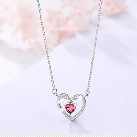 Dây chuyền bạc nữ đẹp bạc 925 Trái tim tình yêu