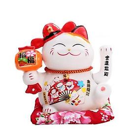 Mèo thần tài vẫy tay may mắn vượng nạp phúc chiêu tài size 16cm
