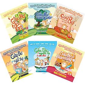 Combo Bộ 6 Cuốn:Học Kĩ Năng Sống Cùng Gấu Bự - Truyện Tương Tác Phát Triển EQ (Dành Cho Trẻ Từ 3-9 Tuổi)