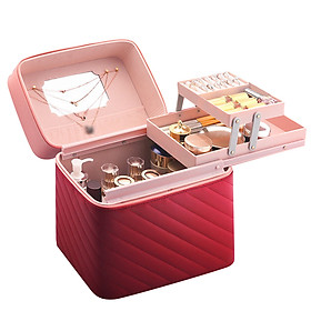 Travel Makeup Case Large Portable Cosmetic Case Professional Makeup Storage Organizer Box Make Up Carrier for Women and