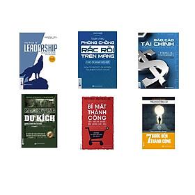 combo 6 cuốn sách :+ Báo cáo tài chính + Bí mật thành công của những người bán hàng xuất sắc + Marketing du kích + Dẫn dắt bản thân, đội nhóm và tổ chức vươn xa + Tuyệt chiêu phòng chống rắc rối trên mạng dành cho doanh nghiệp + Bảy bước tới thành công QP