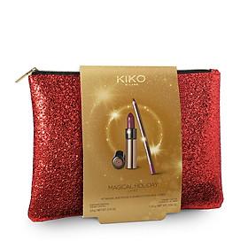 Bộ Son và Chì Kẻ Môi Kiko Magical Holiday, Gossamer Emotion Creamy Lipstick and Lip Kit Shade 109-1