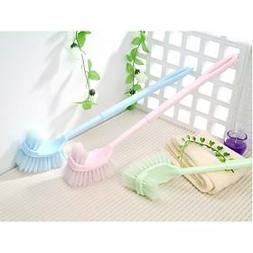 combo 2 bàn chải vệ snh toilet cán dài tiện dụng -giao màu ngẫu nhiên