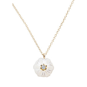 Dây Chuyền Galatea Jewelry Momento Talking Pearl MO-40YW - Trắng