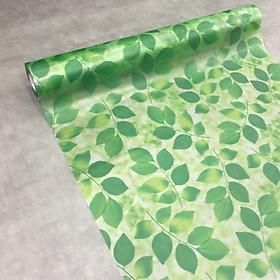 Giấy dán kính lá cây màu xanh - khổ 90cm - có sẵn keo