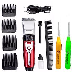 Tông đơ cạo râu, cắt tóc cao cấp gia đình 0817 tặng kèm 2 dụng cụ lấy ráy tai có đèn