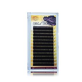 Lông Mi Nối-Mi Hoa Hồng Đen Hoalys ER-01-Lông Mi chuyên dùng để nối mi Hoa Hồng Đen, được thiết kế so le về chiều dài, độ cong B, C, CC, độ dày 0.07mm, chiều dài 6-15mm - 14-16 - CC
