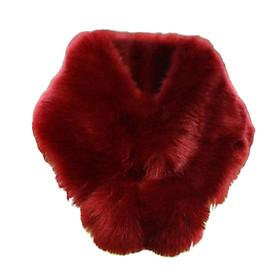 Womens Winter Warm Faux Fur Scarf Furry Neck Wrap Warm Soft Cozy