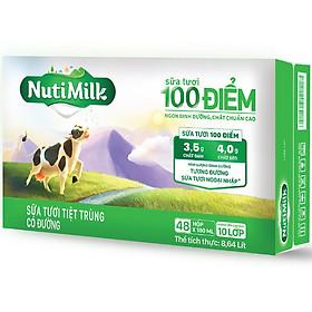Biểu đồ lịch sử biến động giá bán Thùng 48 hộp NutiMilk Sữa tươi 100 điểm - Sữa tươi tiệt trùng Có đường hộp 180ml