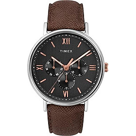 Timex Men's Southview Multifunction 41 mm Leather Strap Watch