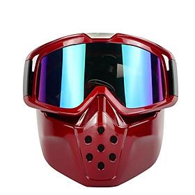 Vintage Motorcycle Helmet TPU Mask Retro Motorcycle Helmet Mask Goggles