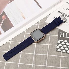 Wrist Strap Smart Watch Band Strap Denim Canvas Watchband For Fitbit Versa