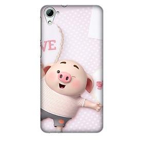 Hình đại diện sản phẩm Ốp lưng nhựa cứng nhám dành cho HTC Desire 826 in hình Heo Con Love