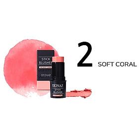 Kem Má Hồng Skinaz Stick Blusher (#2 Soft Coral) (8ml)-2