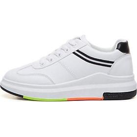 Giày sneakers Thể Thao Nữ Yamet OM-588WB Trắng Phối Đen