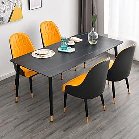 Bàn ăn mặt đá,chân sắt sơn tĩnh điện - Bàn cafe, bàn ăn , bàn trà mặt đá 120x60x75cm